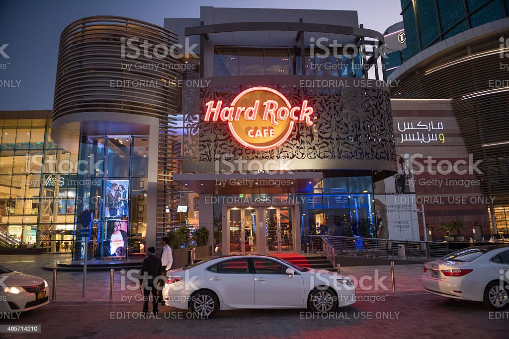 Hard Rock Cafe, Dubai stock photo