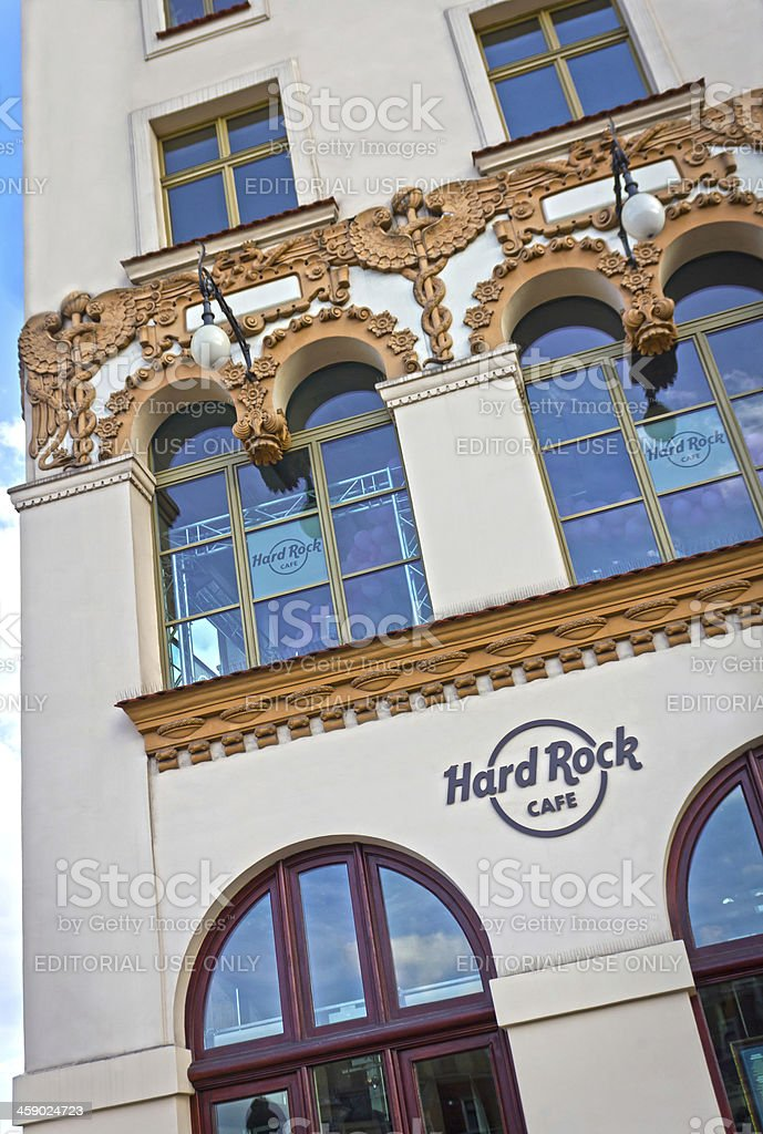 Hard Rock Cafe in Cracow, Poland royalty-free stock photo