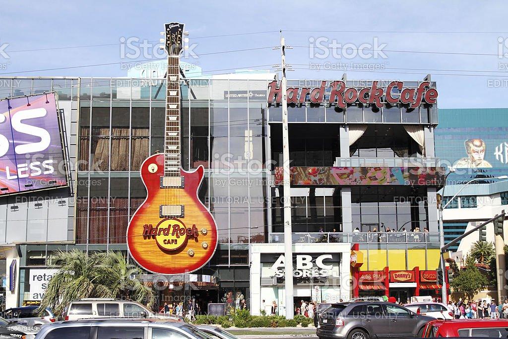 Hard Rock Cafe in Las Vegas Nevada royalty-free stock photo