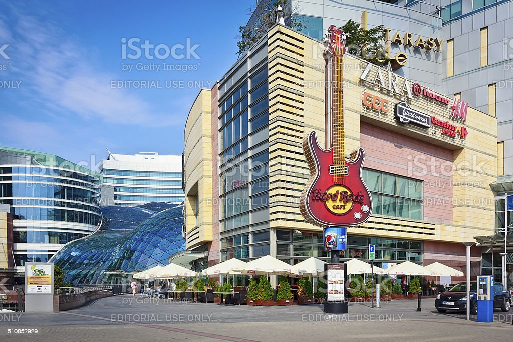 Hard Rock Cafe in Warsaw stock photo