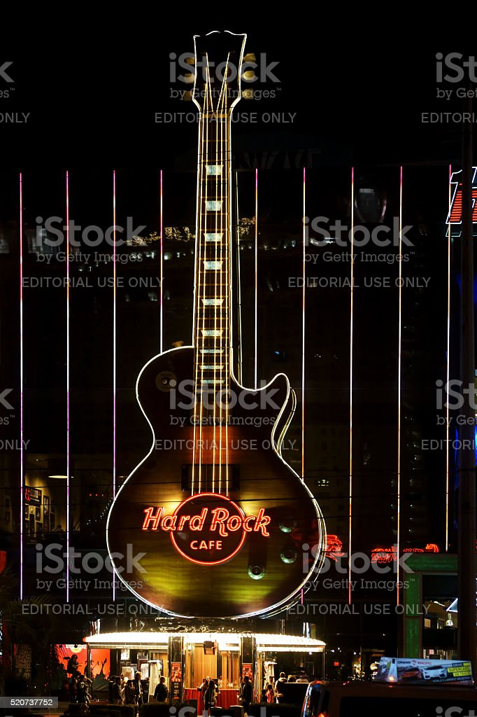 Hard Rock Cafe Las Vegas stock photo