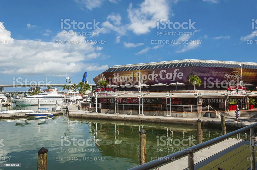 Hard Rock Cafe Miami stock photo