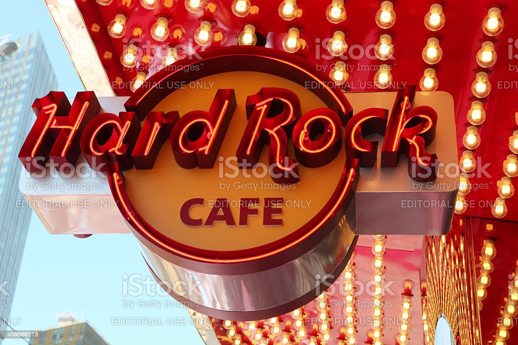 Hard Rock Cafe Neon Sign royalty-free stock photo