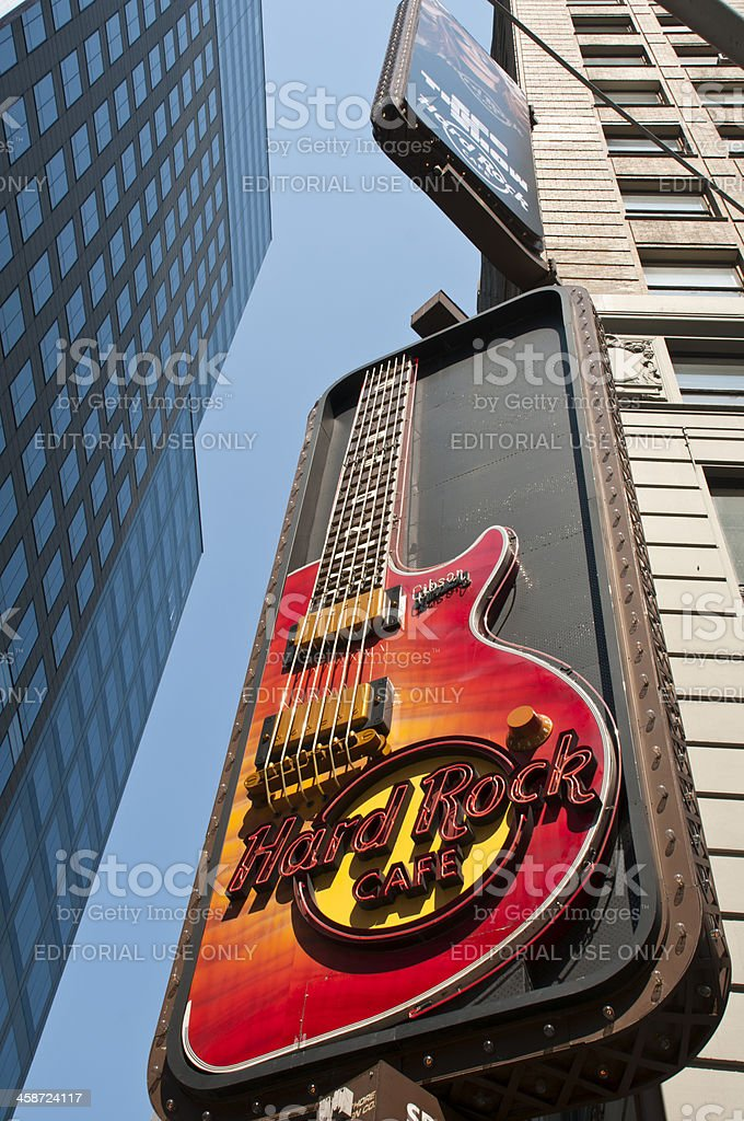 Hard Rock Cafe, New York City stock photo