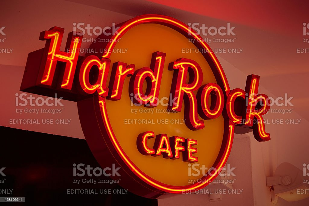 Hard Rock Cafe stock photo