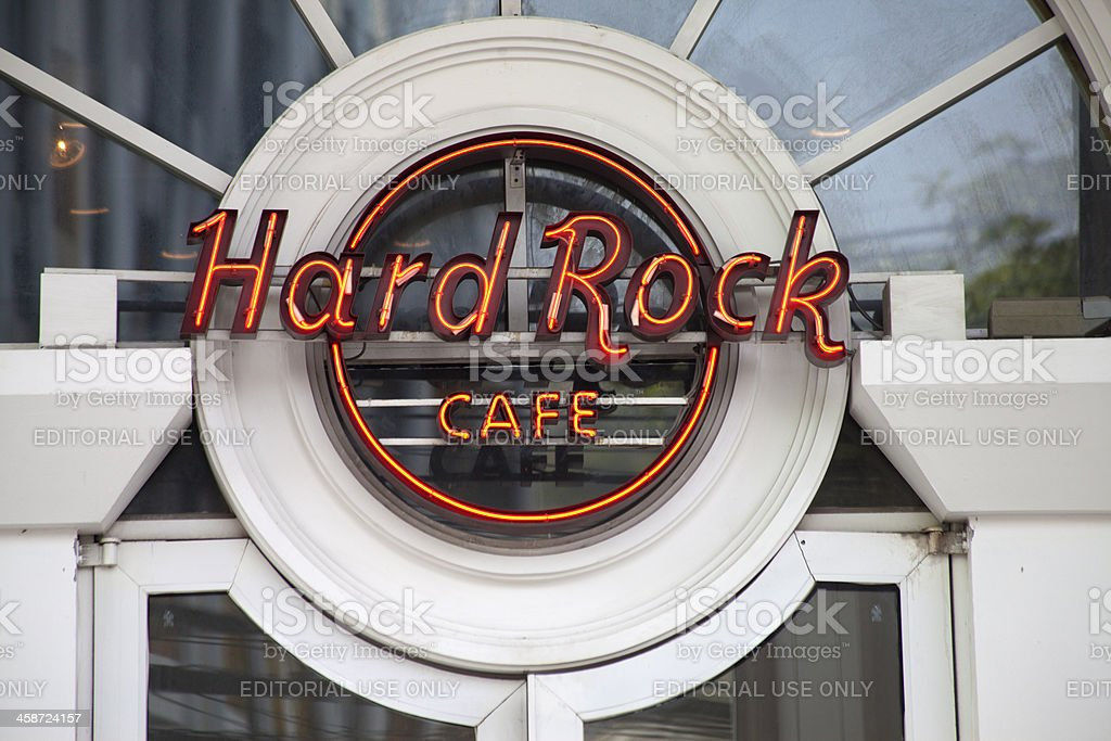 Hard Rock Cafe sign at Phuket Thailand stock photo