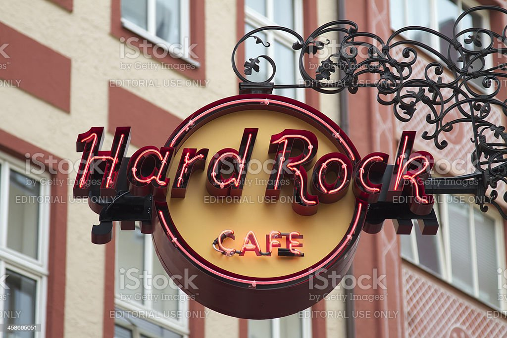 Hard Rock Cafe Sign Munich stock photo