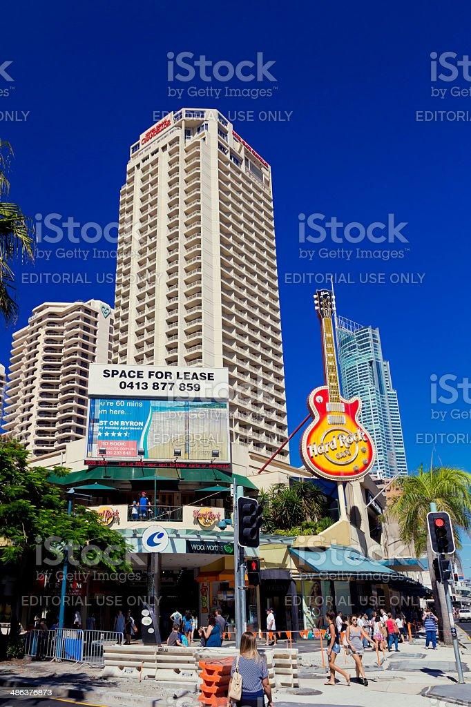Hard Rock Cafe, Surfers Paradise stock photo