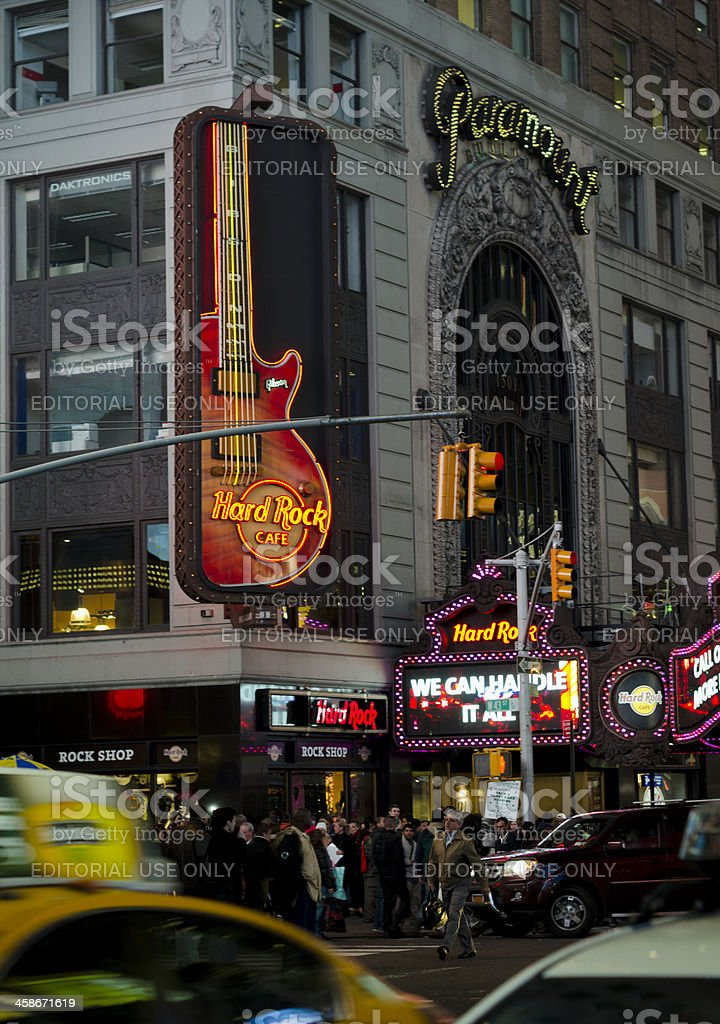 Hard Rock Cafe - Times Square New York City stock photo