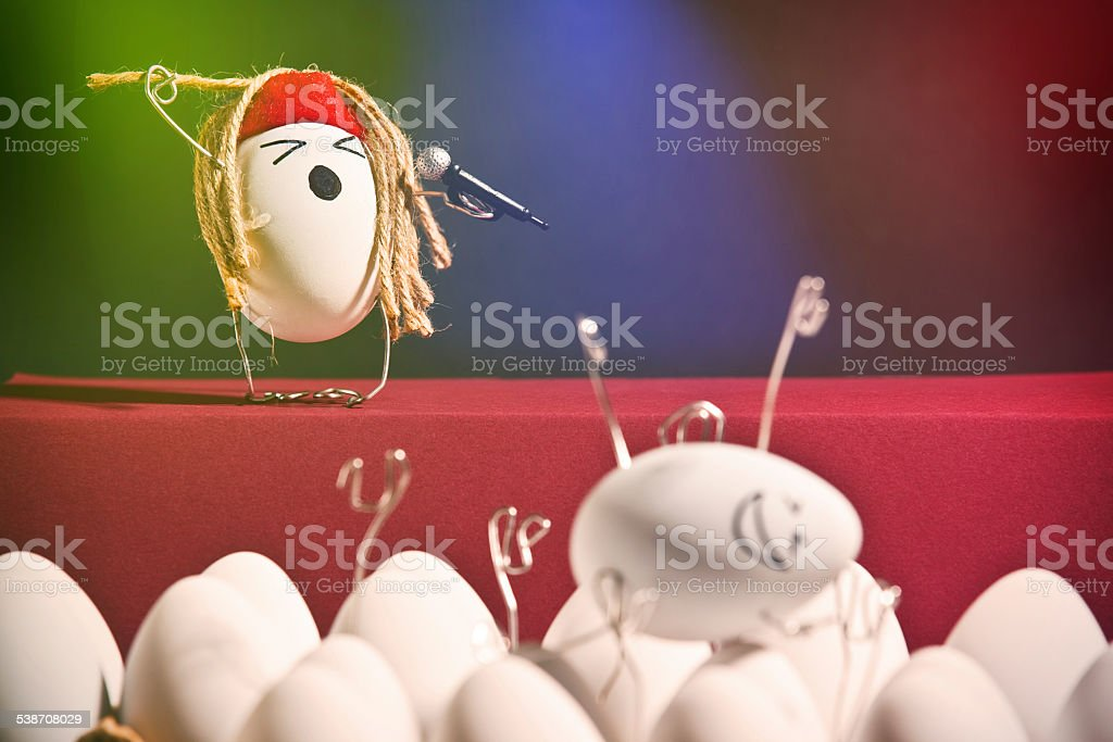 Hard (Boiled) Rock Concert stock photo
