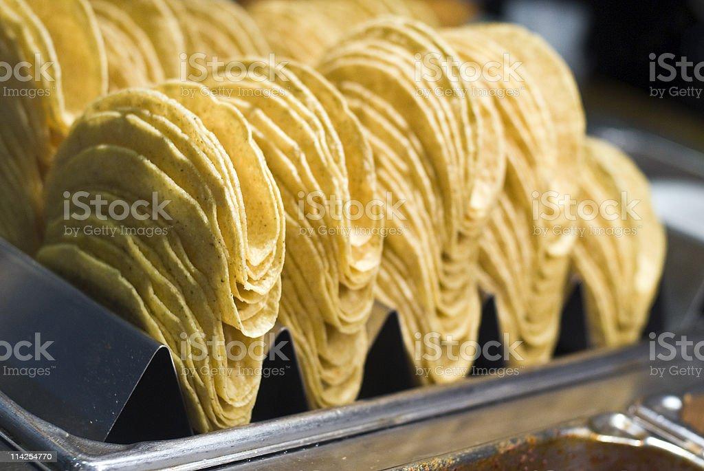 Hard Taco Shells stock photo
