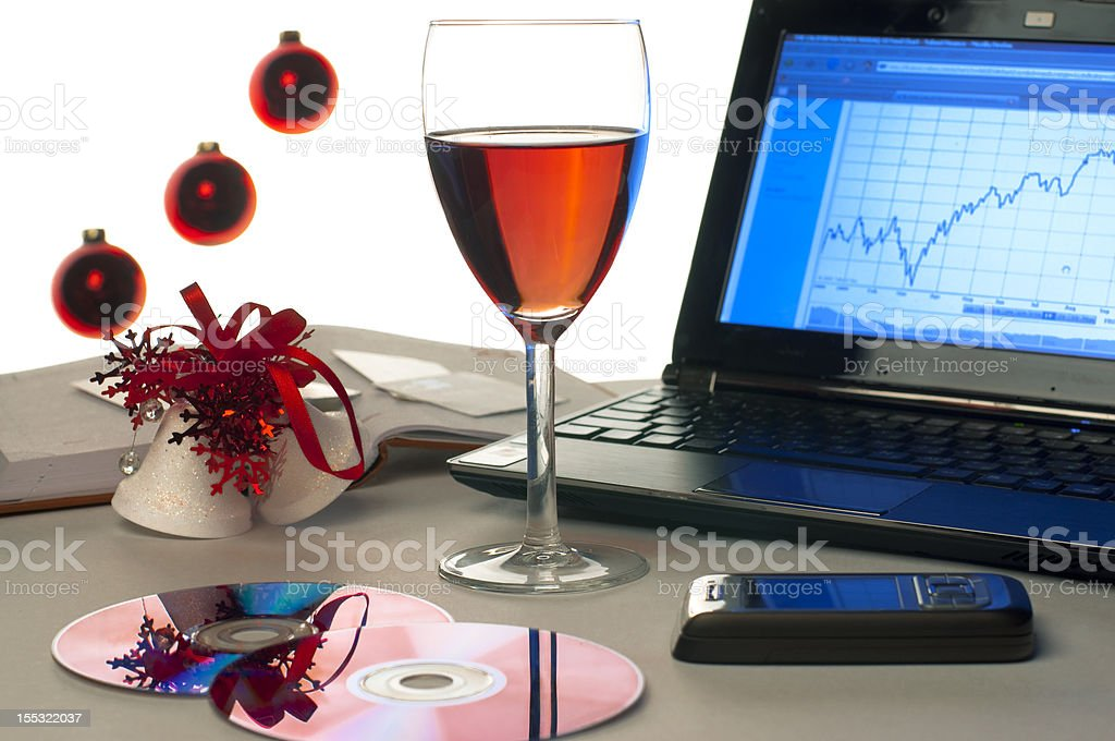hard times are over, let's celebrate stock photo