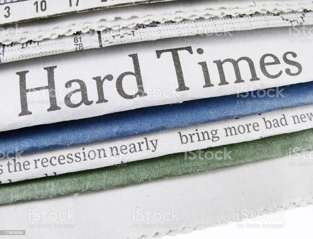 Hard Times stock photo