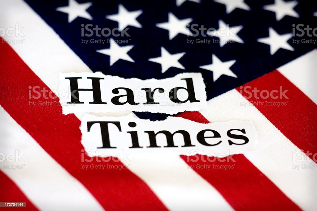 hard times USA royalty-free stock photo