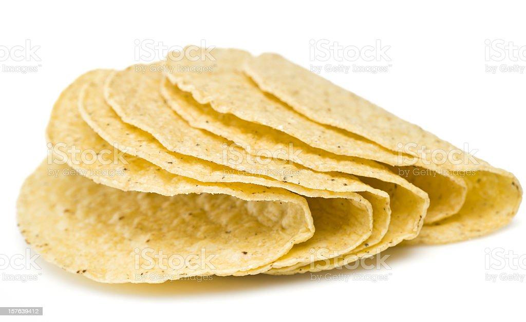Hard tortilla Taco Shells stock photo
