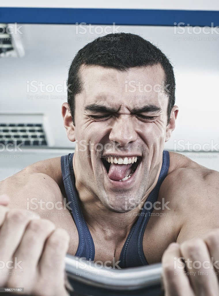 Hard training stock photo