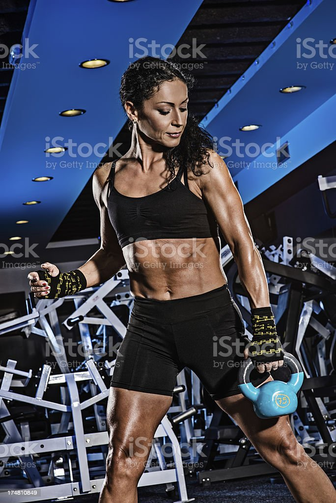 Hard training royalty-free stock photo