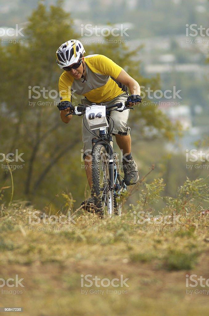 Hard uphill royalty-free stock photo