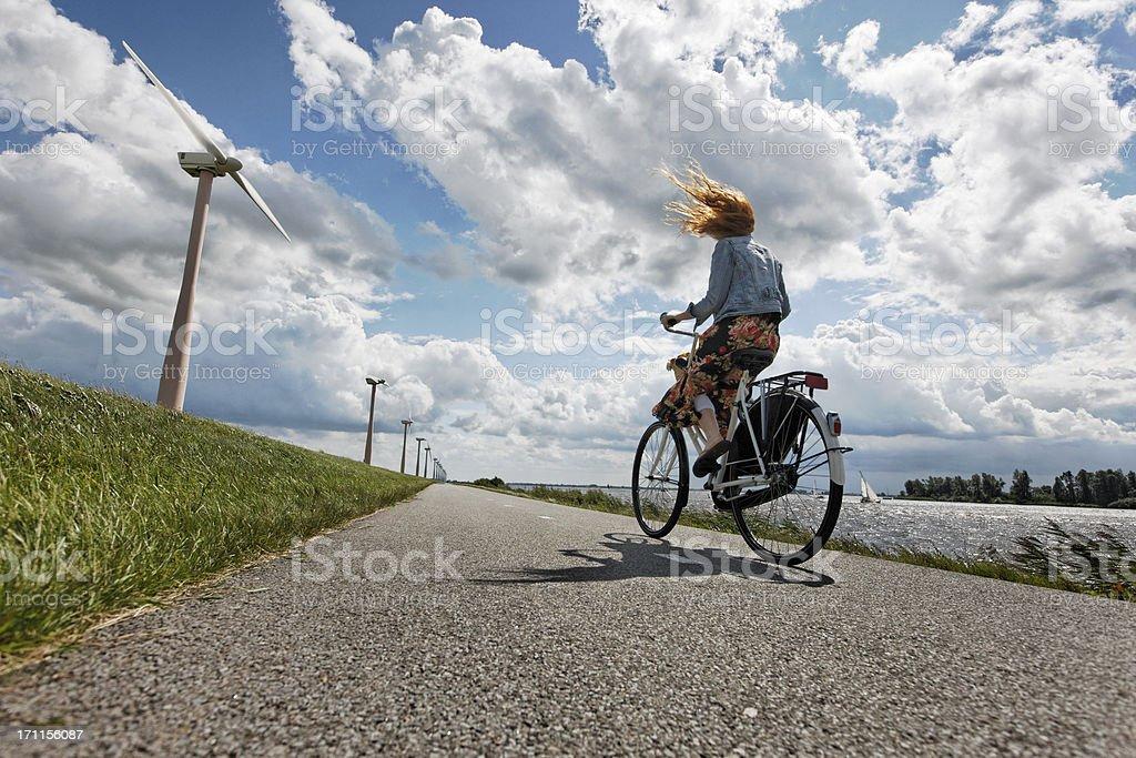 hard wind stock photo