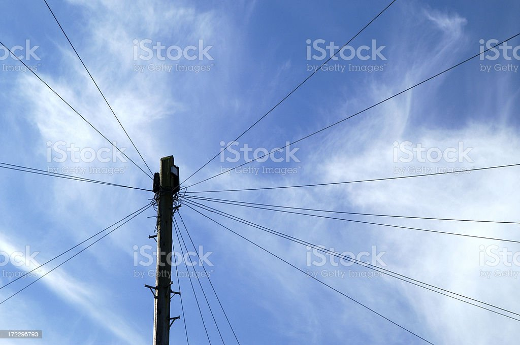Hard Wired royalty-free stock photo