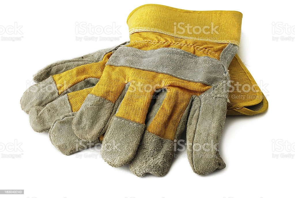 Hard work glove royalty-free stock photo