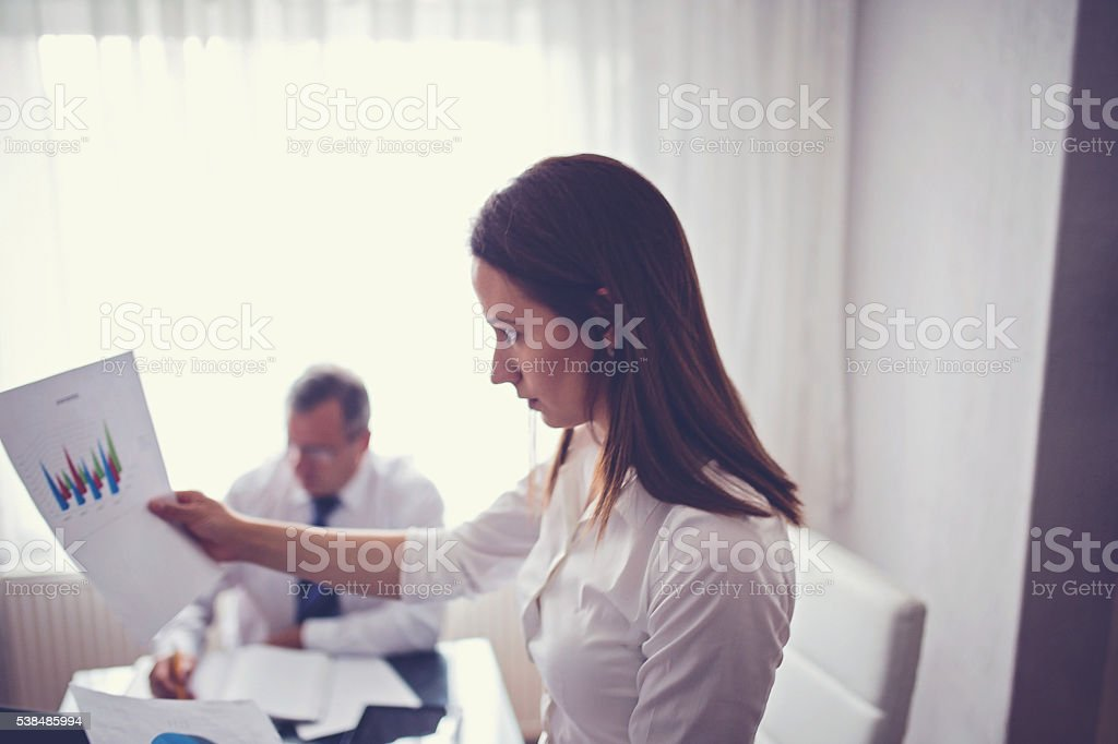 Hard work in office stock photo