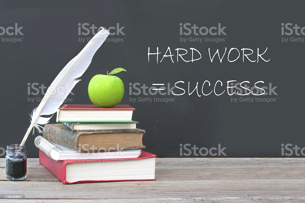 Hard work is success royalty-free stock photo