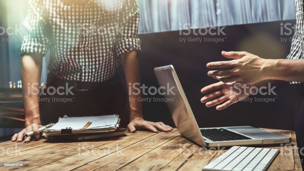 Hard work of young business lawyer at courtroom, hipster vintage picture style, working hard in legal legislation concept. stock photo