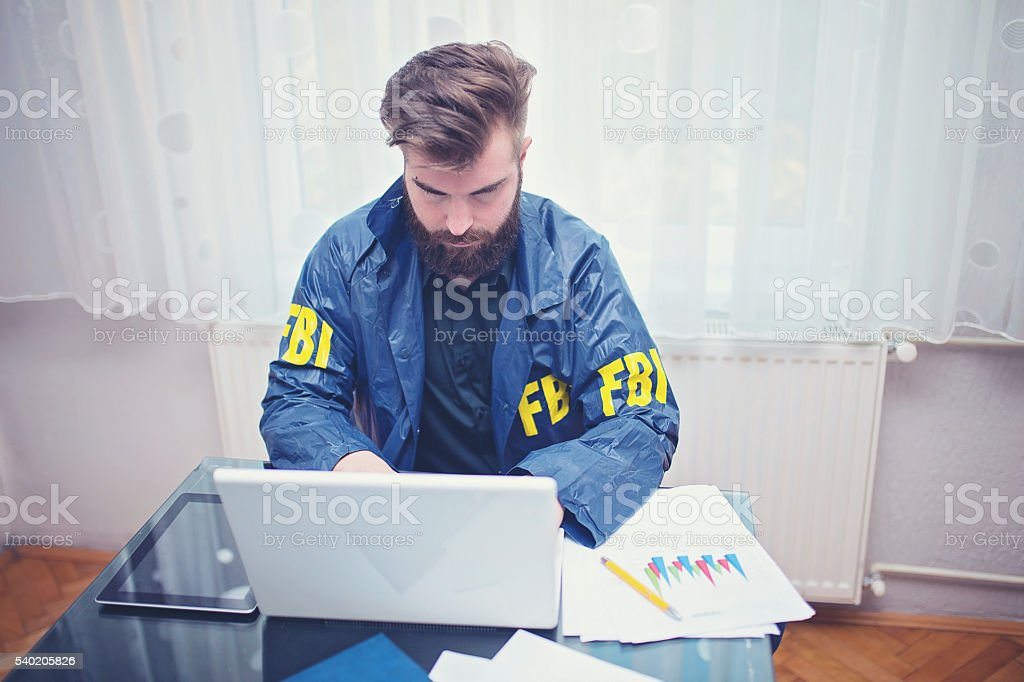 Hard working agent stock photo