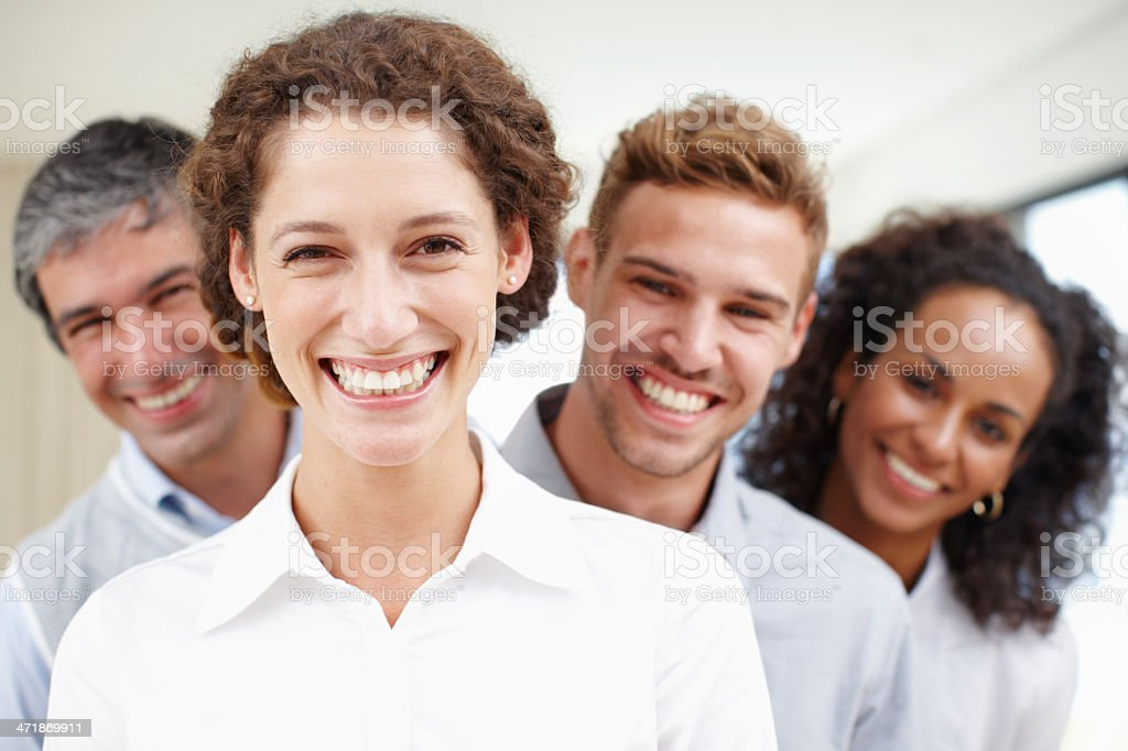 Hard working and happy! royalty-free stock photo