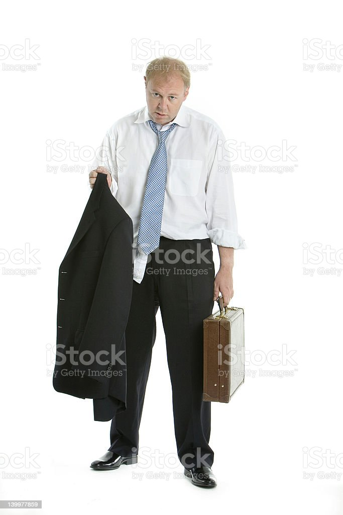 Hard working business man royalty-free stock photo