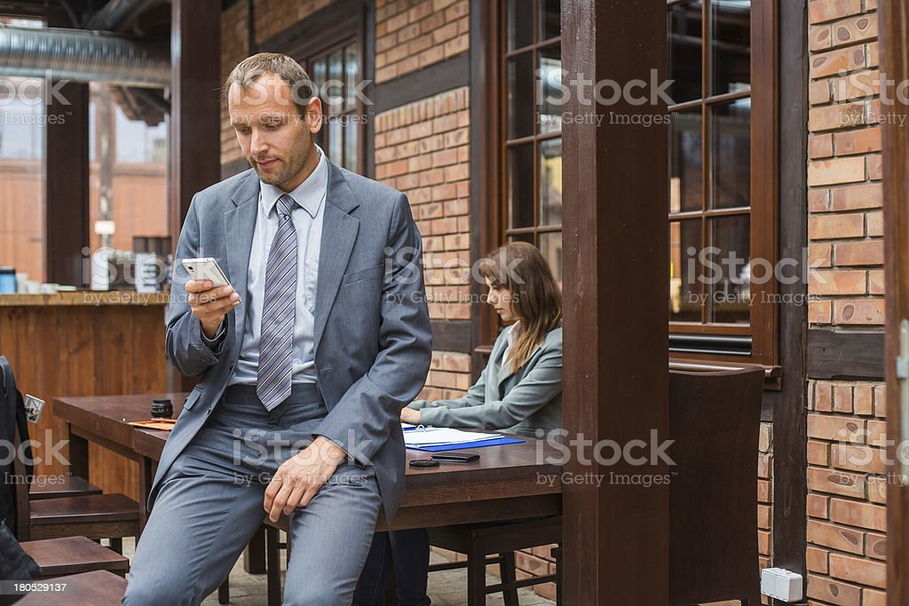 Hard working business people. royalty-free stock photo