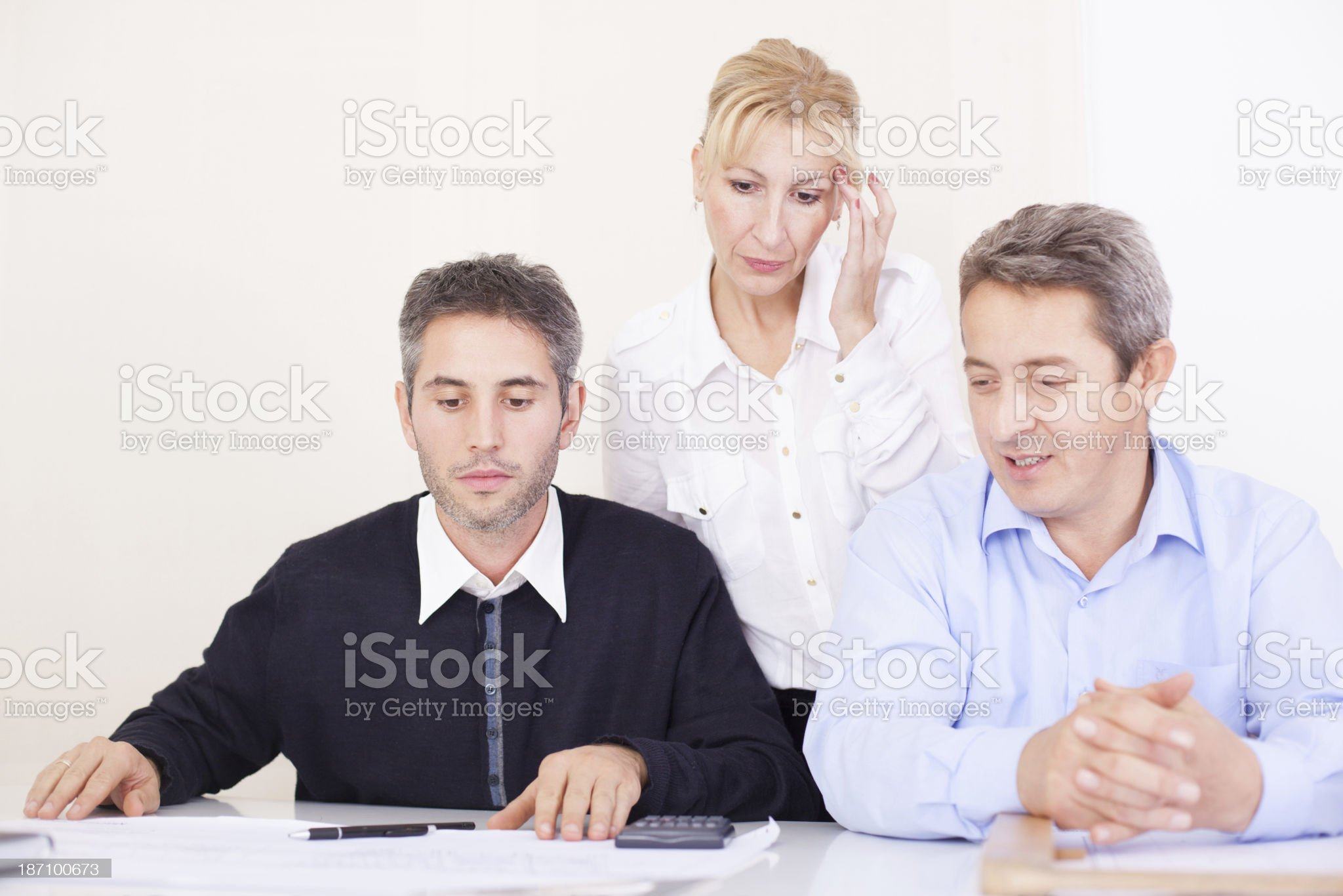 Hard working business team royalty-free stock photo