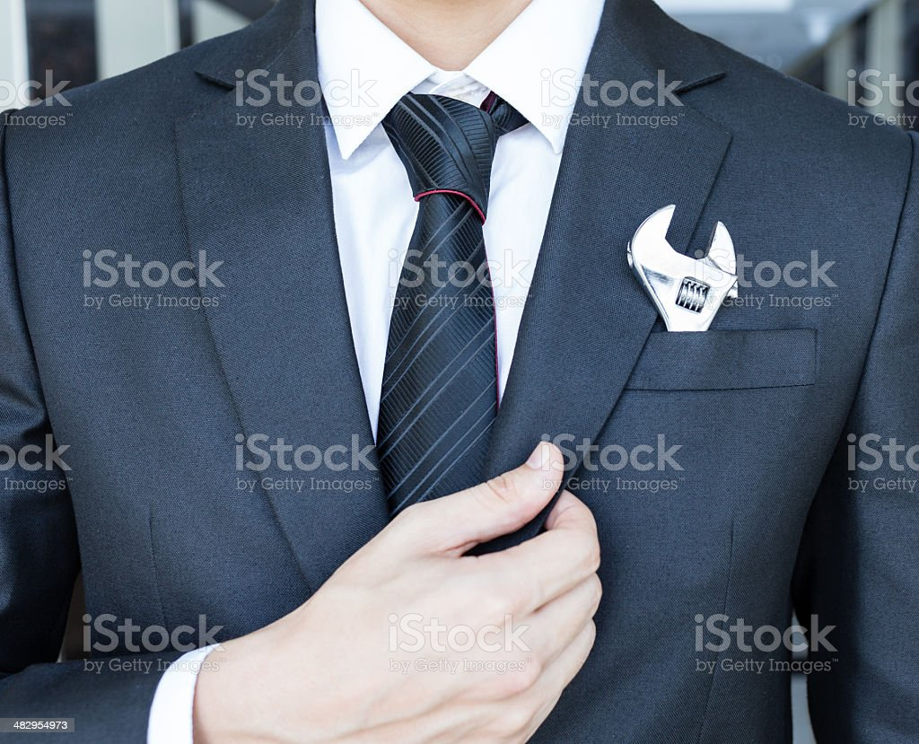 hard working businessman stock photo