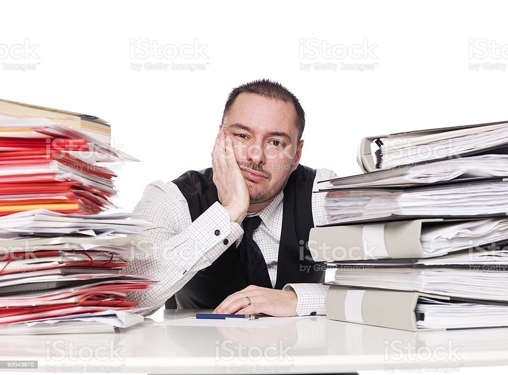 Hard working man stock photo