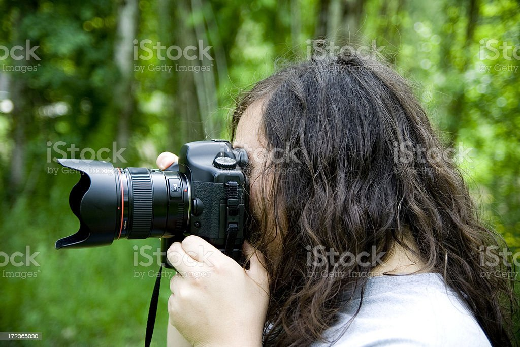 Hard Working Professional Photographer royalty-free stock photo