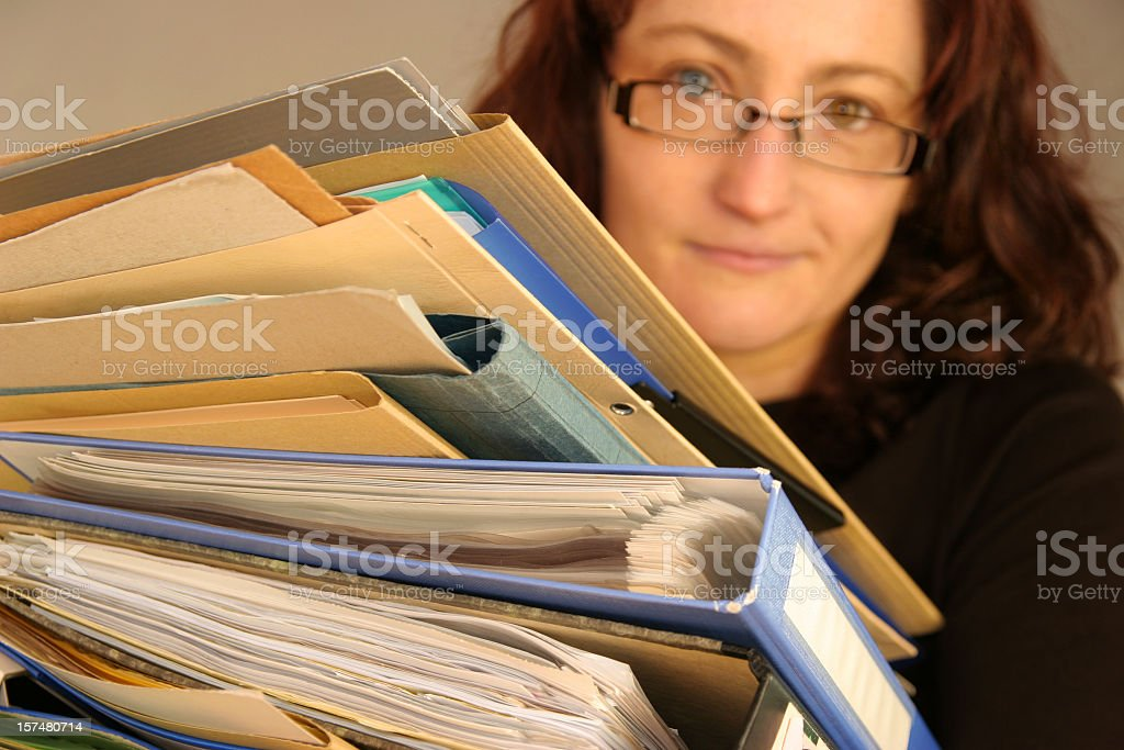 hard working woman royalty-free stock photo