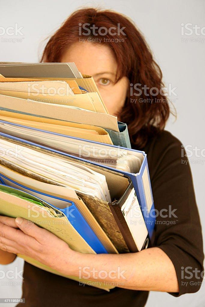 hard working woman royalty-free stock photo