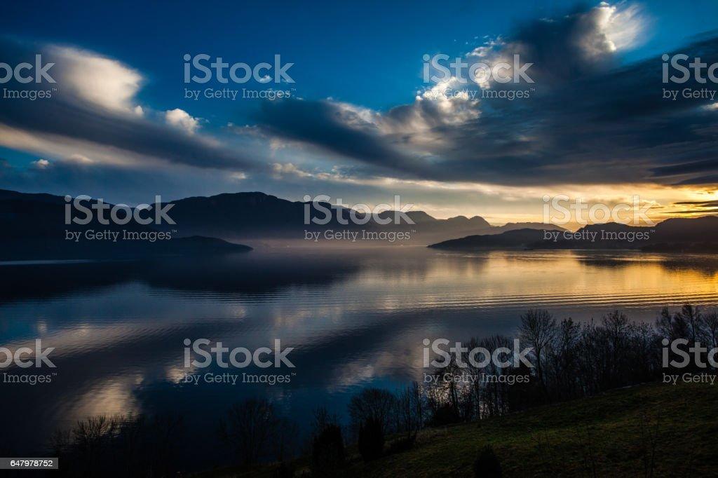 Hardanger fjord stock photo