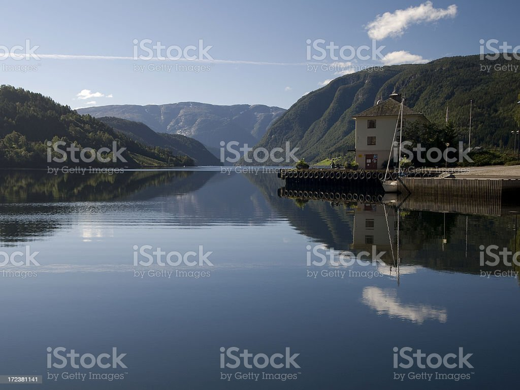Hardangerfjord Jetty royalty-free stock photo