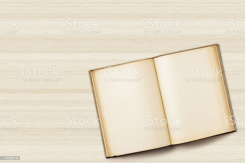 Hardback book on table royalty-free stock photo