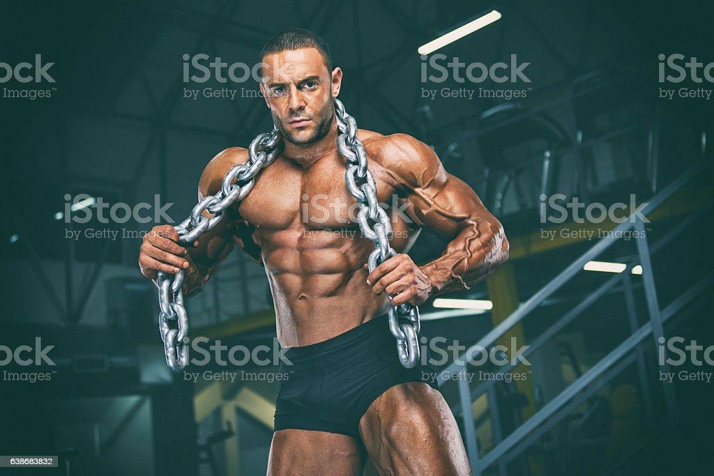 Hardcore Body Building stock photo