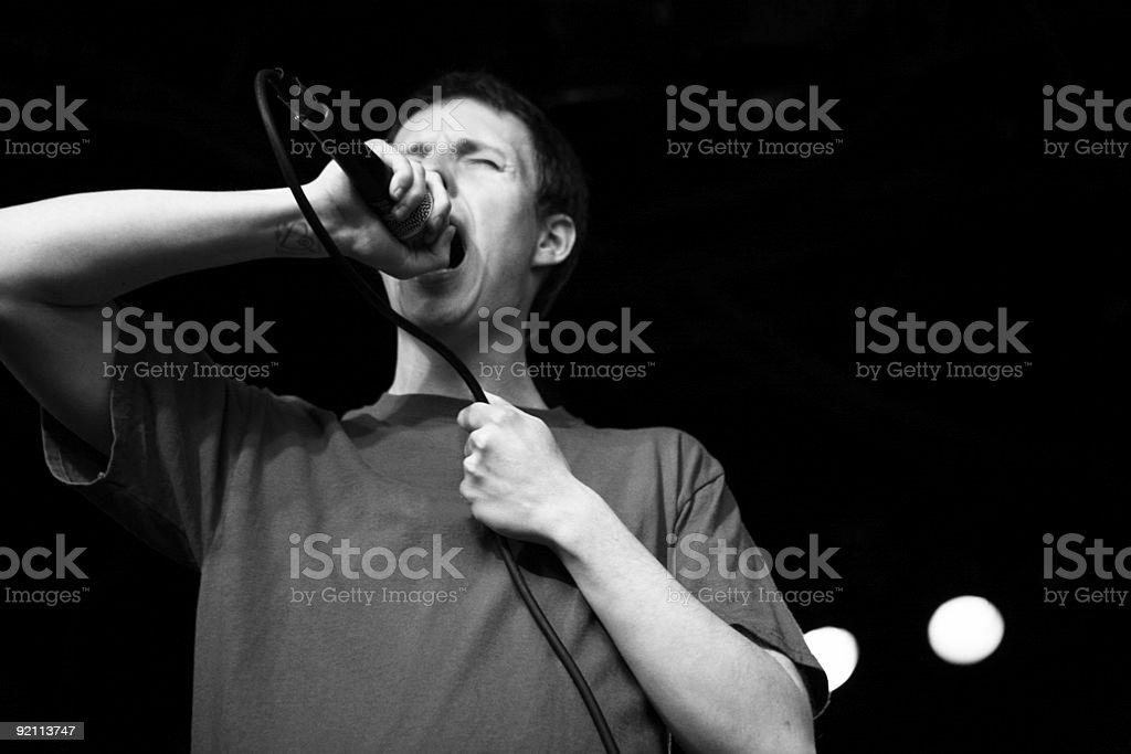 Hardcore Singer Screaming. royalty-free stock photo