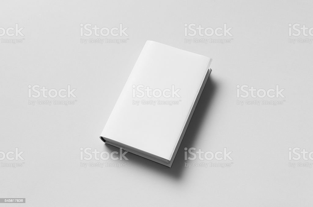 Hardcover Book Mock-Up - Dust Jacket stock photo