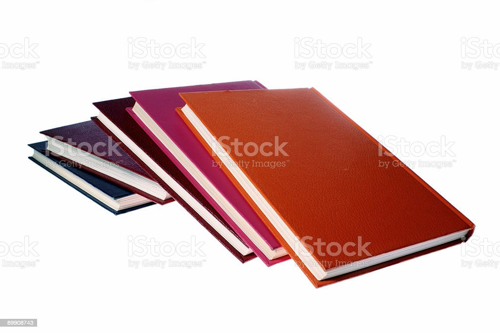 hardcover books isolated on white royalty-free stock photo