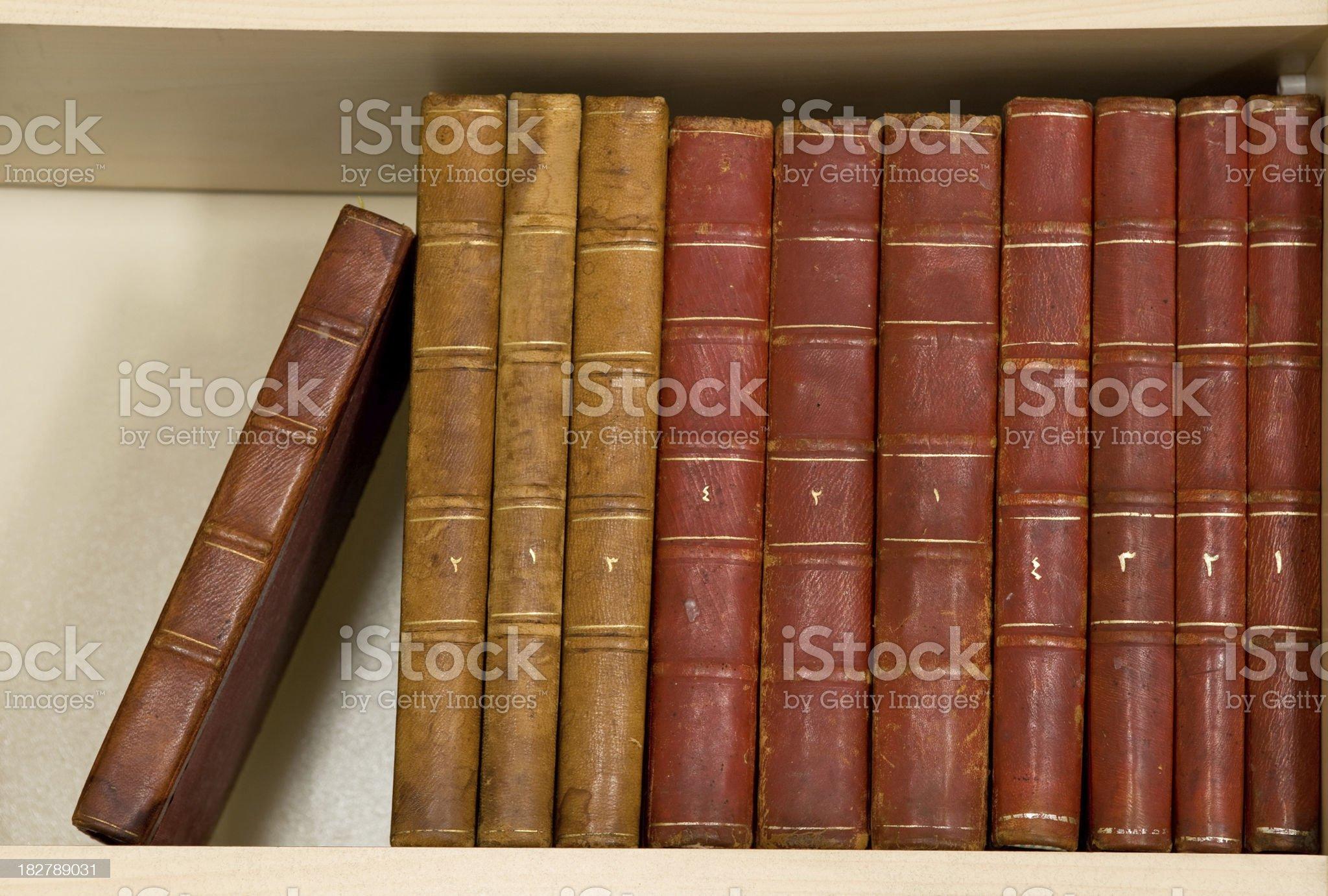 Hardcover books royalty-free stock photo