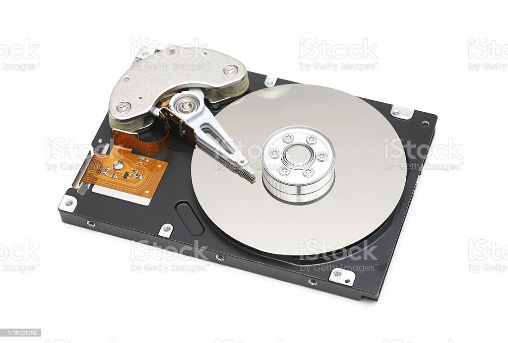 Harddisc on white stock photo