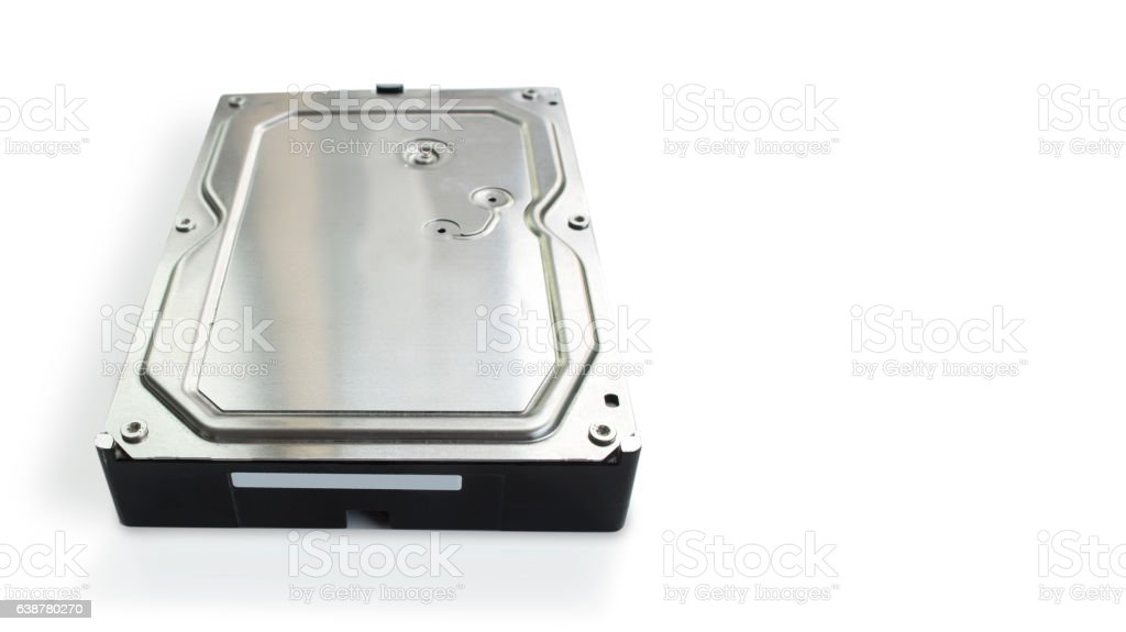 HDD harddisk file save record isolated concept stock photo