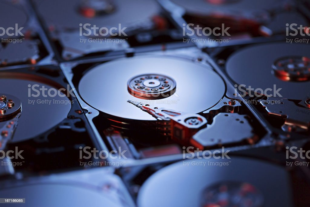 Harddrives royalty-free stock photo