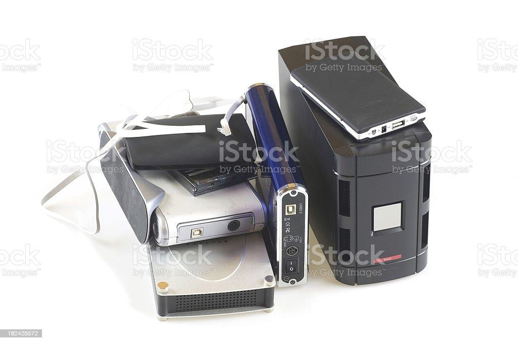 harddrives storage stock photo